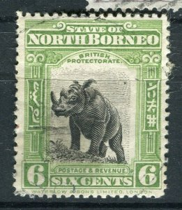 NORTH BORNEO; 1909 early pictorial issue fine used 6c. value