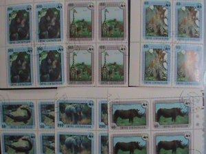 CENTRAL AFRICAN STAMP:1978- SC#323-8- ENDANGER ANIMALS-WWF- BLOCK OF 4 SETS