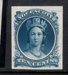 Nova Scotia #12TCxii Very Fine Proof In Blue