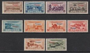 Sc# CB11 / CB20 1929 French Morocco a/p semi Tanger o/p full set MNH CV $87.50