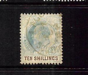 LAGOS  1904-06  10/-   KEVII   FU    SG 63