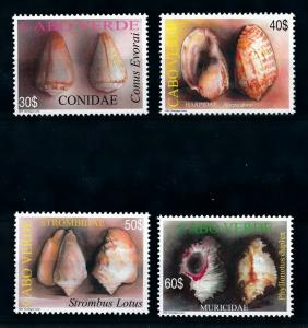 [99728] Cape Verde Cabo Verde 2005 Marine Life Sea shells  MNH