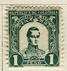 COLOMBIA ANTIOQUIA; 1899 early Bolivar issue Mint hinged 1P. value