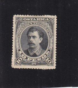 Costa Rica: Sc #34, MH, Thick Paper (34801)