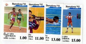 SRI LANKA 1049-52 MNH SCV $9.10 BIN $5.00 OLYMPICS