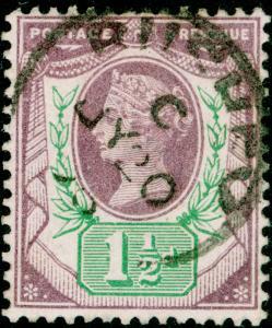 SG198, 1½d dull purple & green, FINE USED, CDS.