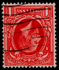 SG429 SPEC N49a(1), 1d scarlet, USED. Cat £15. WMK INV