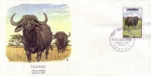 Uganda FDC SC# 639 African Buffalo L374