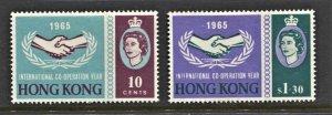 STAMP STATION PERTH Hong Kong #223-224 Intl. Coop. Year MH - CV$22.00