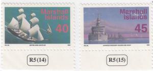 Marshall Islands, Sc # 452-453, MNH, 1993-95, Ships