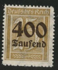 Germany Scott 274 MH* 1920's surcharged inflation period stamp