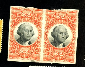 R145P3 MINT PAIR DEFECTS THIN NICKED TOP Cat $210