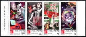 Singapore 918 Strip of 4, MNH.Millennium.Technology,Arts & Culture,Heritage,2000