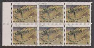 Australia 1983 Lace Monitor Sc#784 MNH Block of 6