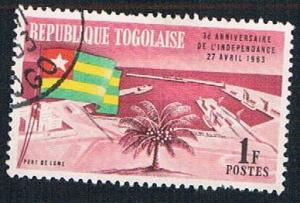 Togo 449 Used Flag and Harbor (BP06211)
