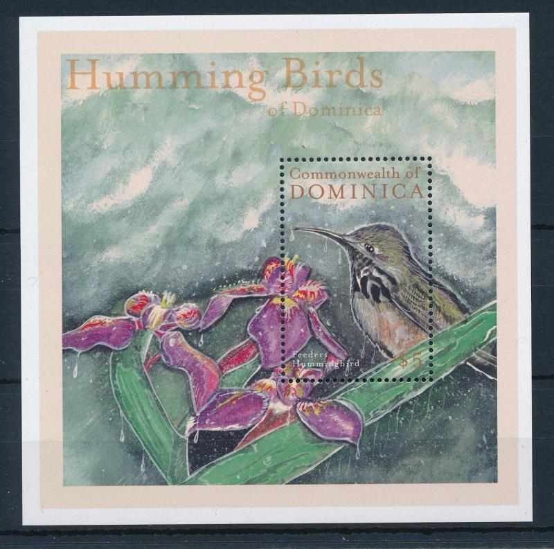 [29666] Dominica 2001 Birds Hummingbirds Kolibri MNH Sheet
