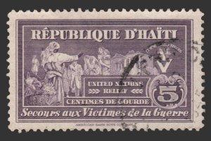 HAITI 1944 STAMP SCOTT # RA1. USED.