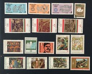 Bulgaria 1972,Sc#2034-35,23,2001,olympic, View Of Melnik,singing Harvesters