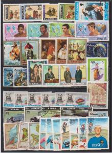 AJMAN SET OF STAMPS MNH&USED(43)  LOT#493