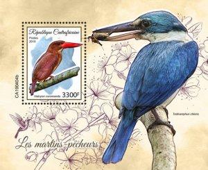 C A R - 2019 - Kingfishers - Perf Souv Sheet - MNH