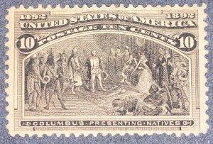 US #237 MH OG.  1893 10c Columbian Commemorative.
