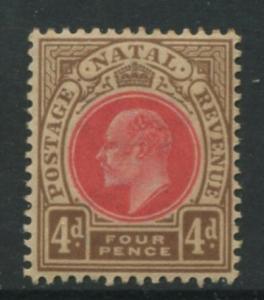 Natal -Scott 87 - KEVII Definitive -1902 - MNG - Single 4p  Stamp