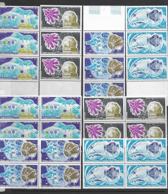 Antarctica FSAT C50-3 MNH top 4 values x 7, see desc. CV$66.50