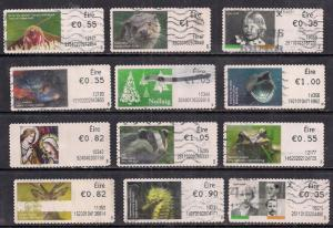 GB Ireland QE2 Selection of 12 Post and Go's used stamps- F1403