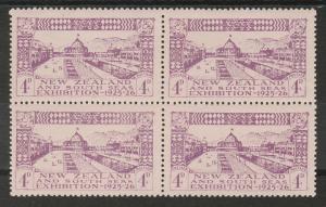 NEW ZEALAND 1925 DUNEDIN EXHIBITION 4D BLOCK OF 4