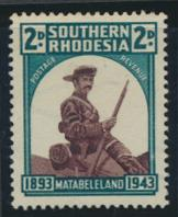 Southern Rhodesia  SG 61  SC# 64   MH  Occupation of Matabeleland see details