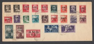 Italy, Venezia Giulia Sc 1LN1/1LNE2. 1947 AMG overprints cplt on Last Day cover