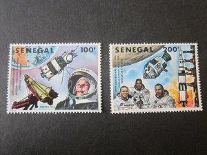 Senegal 1978 Sc 492-3 space set MNH