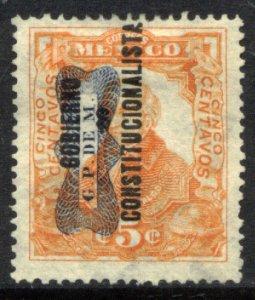 MEXICO 532, 5¢ Corbata & Gobierno $ overprints, UNUSED, H OG. VF.
