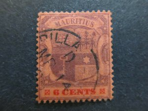 A4P43F46 Mauritius 1900-05 Wmk Crown CA 6c used