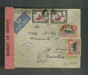 1944 Uganda Cover from Prison Camp to Palestine Otto Billig