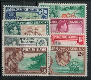 Pitcairn Islands 1940-1951 SC 1-8 Mint SVC 75.90 Stamp Set