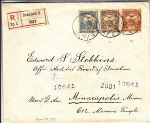 1901, Budapest, Hungary to Minneapolis, MN, Registered, See Remark (24419)