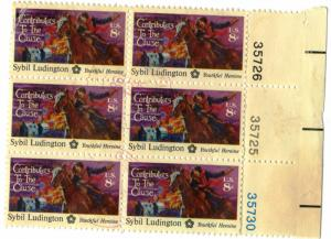 United States - SC #1559 - USED PLATE BLOCK OF 6 - 1975 - Item USA1029