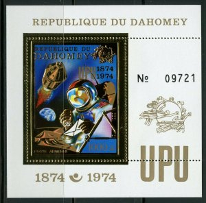 1974 Dahomey 598/B40 gold 100 years of UPU / Astronaut 15,00 €