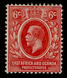 EAST AFRICA and UGANDA GV SG46, 6c red, M MINT.
