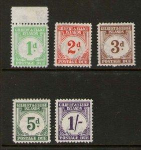 Gilbert & Ellice Islands 1940 Sc J1-5 MH(J1,2 MNH)
