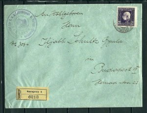AUSTRIA BOSNIA OFFICIAL REGISTER LETTER von SARAJEVO nach BUDAPEST