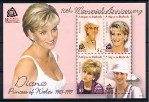 [91846] Antigua & Barbuda 2007 Royalty Princess Diana Sheet MNH
