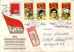 Germany D.D.R., First Day Cover, Registered