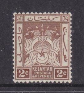 KELANTAN, 1922 Arms, Script CA. 2c. Brown, lhm.