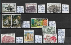 SPAIN Espana - used - from collection - see more in shop - 1976 1978