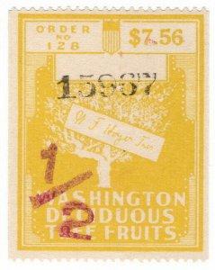 (I.B) US Revenue : Deciduous Tree Fruit Tax $7.56 OP (Washington)
