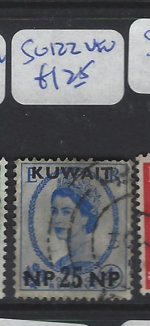 KUWAIT  (P2409B)  QEII ON GB  25NP/4D  SG 122  VFU