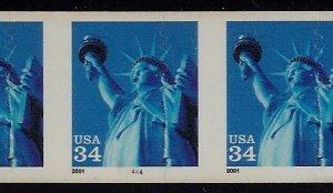 3477 - Huge Die Cut Shift Erro / EFO PNC6 #4444 Statue of Liberty  Mint NH