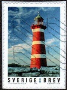 Sweden 2815d - Used - (9k) Nar Lighthouse (2018) (cv $2.25)